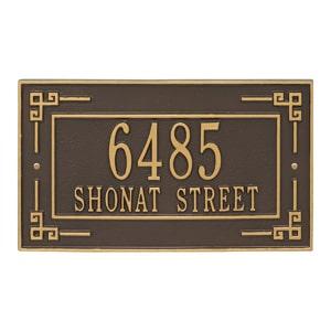 Whitehall Key Corner Plaque Bronze Gold