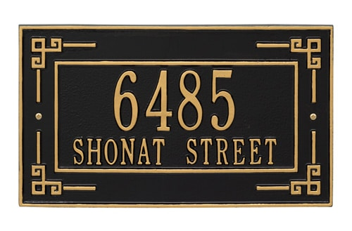 Whitehall Key Corner Address Plaque
