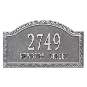 Whitehall Penhurst Address Plaque Pewter Silver