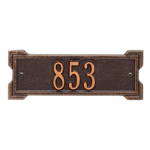 Whitehall Petite Roanoke Plaque Antique Copper