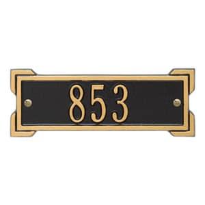 Whitehall Petite Roanoke Plaque Black Gold