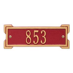 Whitehall Petite Roanoke Plaque Red Gold