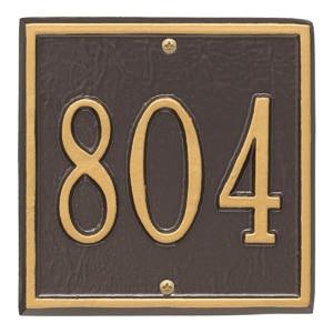 Whitehall Petite Square Plaque Bronze Gold