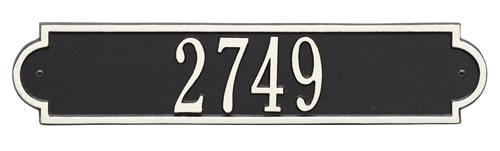 Whitehall Richmond Horizontal Address Plaque Product Image