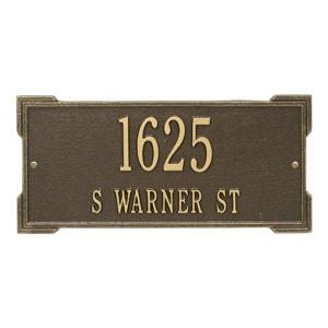 Whitehall Roanoke Address Plaque Antique Bronze