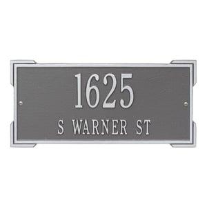 Whitehall Roanoke Address Plaque Pewter Silver