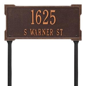 Whitehall Roanoke Lawn Marker Antique Copper