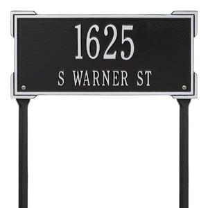 Whitehall Roanoke Lawn Marker Black Silver