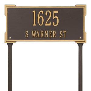 Whitehall Roanoke Lawn Marker Bronze Gold