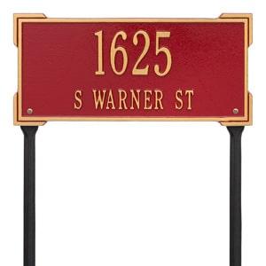 Whitehall Roanoke Lawn Marker Red Gold