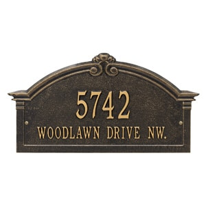 Whitehall Roselyn Arch Plaque Black Gold
