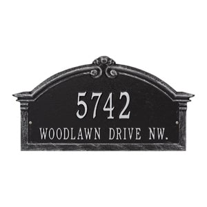 Whitehall Roselyn Arch Plaque Black Silver