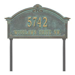 Whitehall Roselyn Lawn Marker Bronze Verdigris