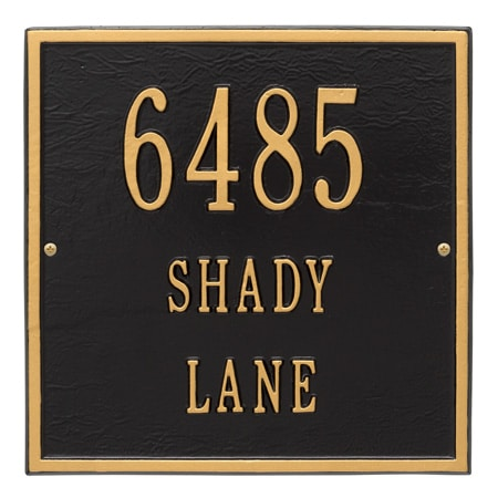 Whitehall Square Address Plaque with 1, 2 or 3 Lines Product Image