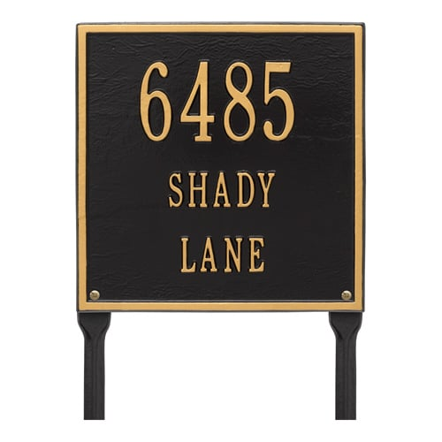 Whitehall Square Aluminum Lawn Marker Address Plaque Product Image
