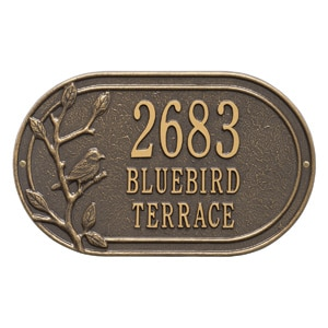 Whitehall Woodridge Oval Plaque Bronze Gold