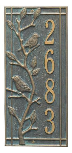 Whitehall Woodridge Bird Vertical Address Plaque Product Image