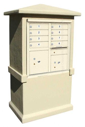 8 Door CBU Mailbox Stucco Column