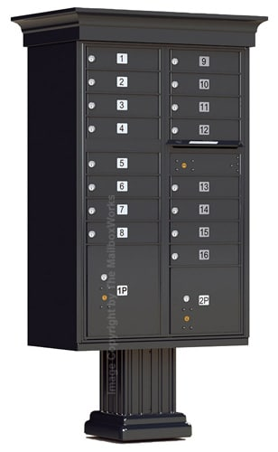16 Door Vogue Classic Cluster Mailbox Accessories Product Image