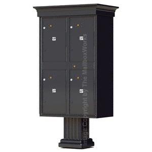 4 Door Parcel Locker Classic Black