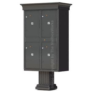 4 Door Parcel Locker Classic Bronze