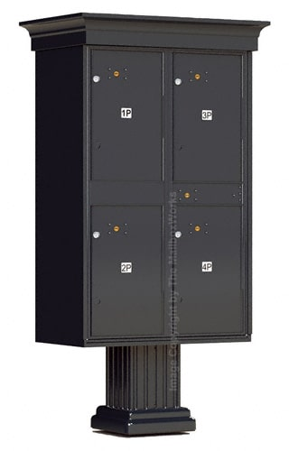 Vogue Classic Accessories 4 Doors Parcel Lockers Product Image