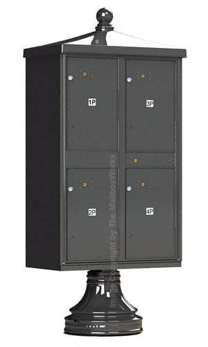 Vogue Traditional Accessories 4 Door Parcel Lockers Product Image