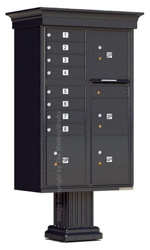 8 Door Classic CBU Mailboxes 4 Parcel Lockers Product Image