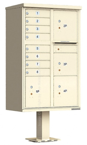 4 Door Parcel Locker with 8 Door CBU Cluster Mailbox Product Image