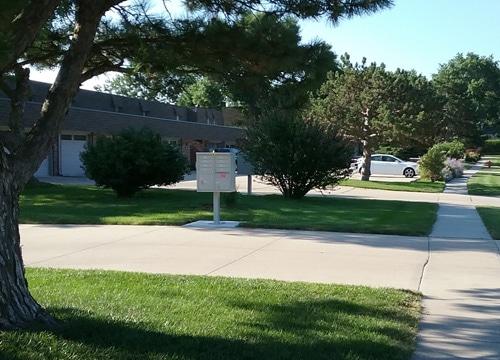 Florence 8 Door CBU Cluster Mailbox Postal Grey Installed