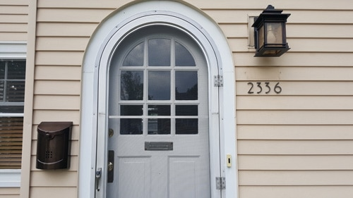 Majestic Noble Bronze Address House Numbers Installed