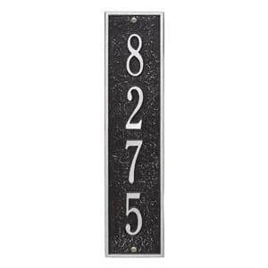 Whitehall Delaware Vertical Plaque Black Silver