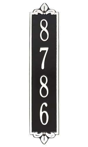 Whitehall Lyon Vertical Standard Address Plaque Product Image