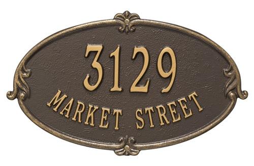 Whitehall Monte Carlo Address Plaque Product Image