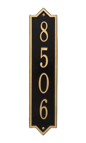 Whitehall Norfolk Vertical Address Plaque