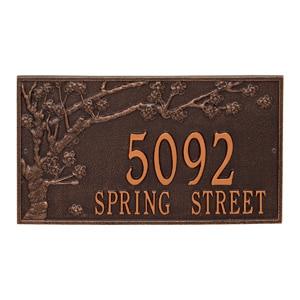Whitehall Spring Blossom Plaque Antique Copper