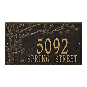 Whitehall Spring Blossom Plaque Black Gold