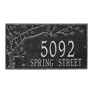 Whitehall Spring Blossom Plaque Black Silver
