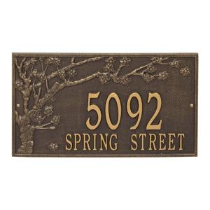 Whitehall Spring Blossom Plaque Bronze Gold