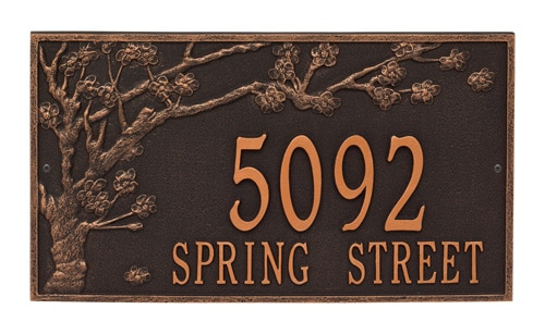 Whitehall Spring Blossom Address Plaque