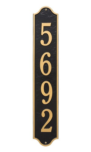 Whitehall Admiral Vertical Address Plaque Product Image