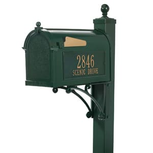 Whitehall Deluxe Mailbox Package Green