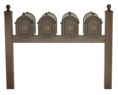 Whitehall Mailboxes with Quad Post Product Image