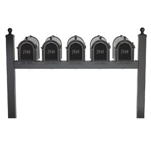 Whitehall Mailboxes Quint Post Black Silver