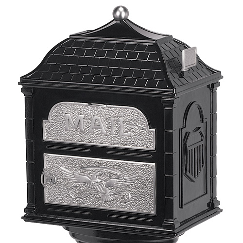 Classic Pedestal Mailbox Satin Nickel Accents