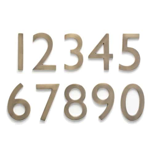 Laguna Antique Brass 5 Inch House Numbers Product Image
