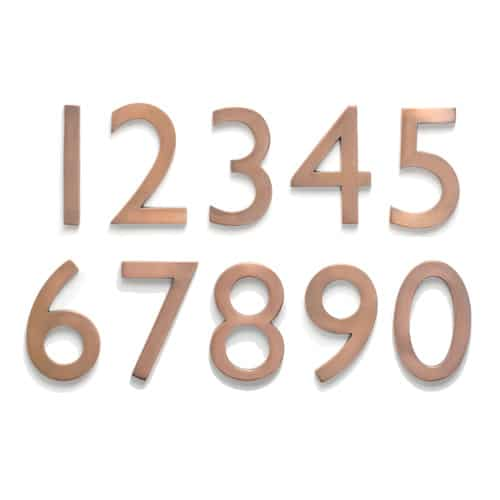 Laguna Antique Copper 5 Inch House Numbers Product Image