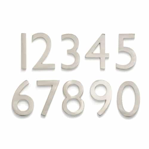 Laguna Satin Nickel 4 Inch House Numbers Product Image